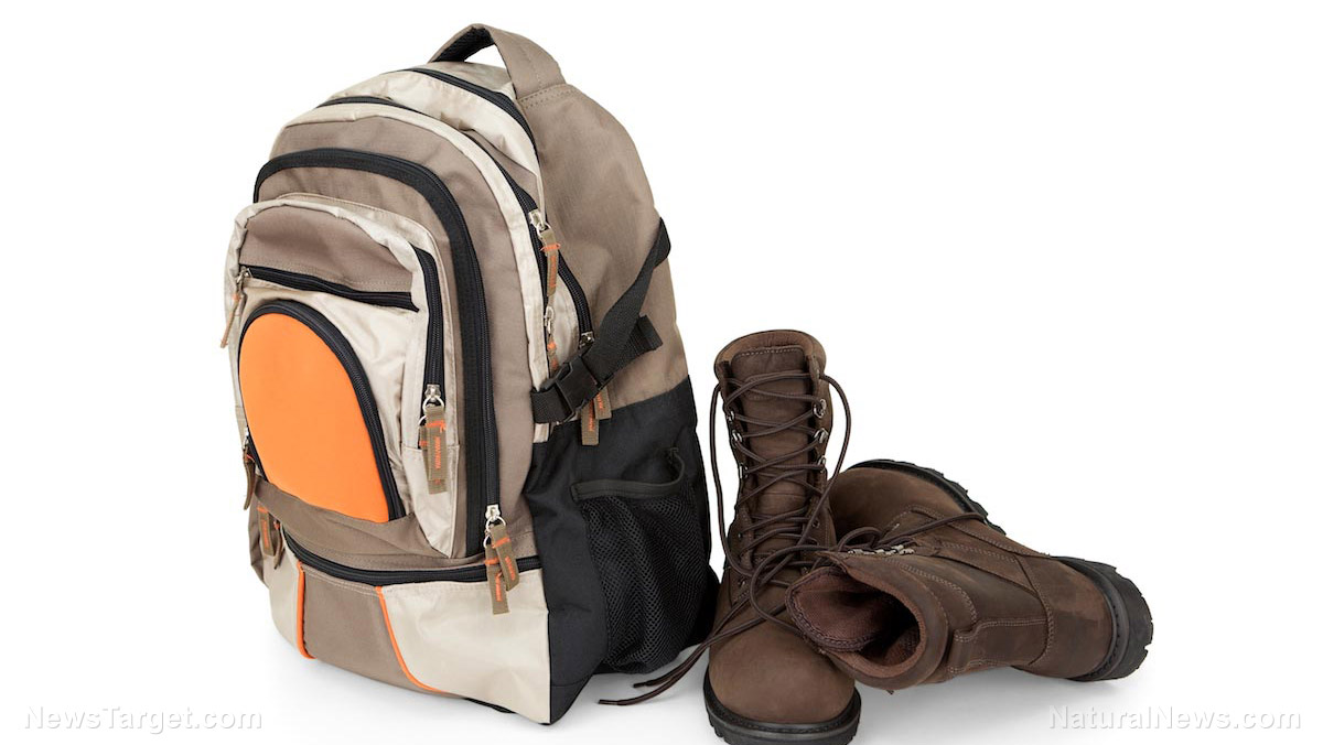 Survival Backpack and Boots
